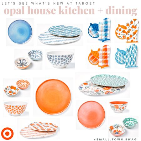 Let's see what's new at target! I'm digging these new melamine dishes from Opal house — all linked!  PS... be sure to follow along with me on Instagram for even more fun finds like these! . . . . Opal house // Target finds // dishes // dish set // home // kitchen // dining // flatware // cups // plates // bowls // platters // dish // pot holders   #LTKhome #LTKstyletip #LTKunder50