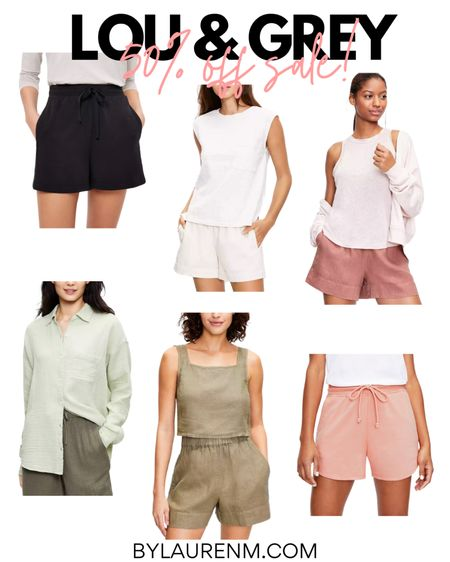 Lou & Grey 50% Sale @Loft. Loft sale. http://liketk.it/3il5g #liketkit @liketoknow.it #LTKsalealert #LTKunder50 #LTKtravel #loft #louandgrey #sale #summer #matchingset #loungewear #athleisure #casual