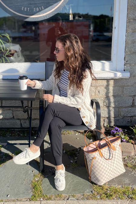 Maine morning coffee vibes - Fisherman sweater, align joggers, tretorn sneakers http://liketk.it/3fY7o #liketkit @liketoknow.it #LTKstyletip