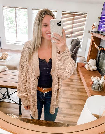 Cozy ribbed knit amazon cardigan, fall sweater    #LTKSeasonal #LTKunder100 #LTKunder50