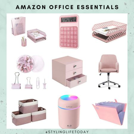 Pink office accessories. Pink office essentials. Amazon home. Work from home. Computet. Laptop. Productivity   #LTKbacktoschool #LTKeurope #LTKhome