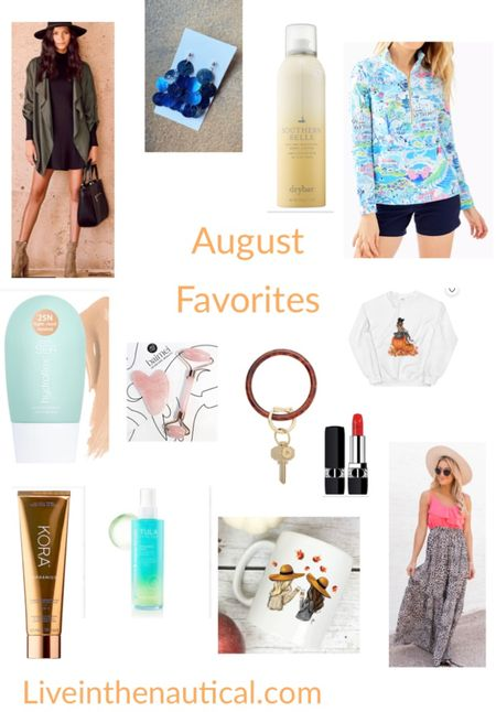 Sharing my August Favorites.   The Lulu jacket is such a goodie that it is sold out until September! Thankfully it comes in gray! Fit is tts.  Love the new O-ring resin styles, Use my code KATELYNS20 for 20% off.   This Nantucket inspired Lilly Pulitzer is another goodie, perfect for the colder months coming.   #LTKbeauty #LTKSeasonal #LTKbacktoschool