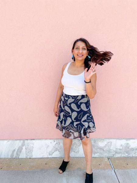 Blue paisley skirt  #LTKsalealert #LTKSeasonal #LTKunder50