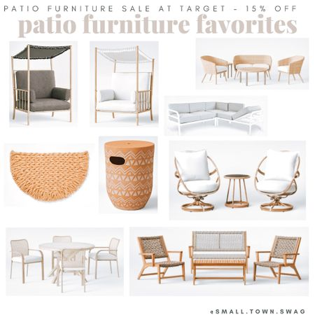 ‼️ATTENTION — Target Patio furniture sale - Take 15% OFF!  Linked some of my favorites here! But, be sure to head to my IG @small.town.swag to hang out with me + get even more Target finds today & more everyday of the week!  . . . . . Egg chair // furniture // patio furniture // sofa // couch // patio furniture // patio // back porch // swing // Walmart Wednesday // Walmart // Walmart finds // Walmart deals // patio // chair // wicker furniture // ottoman // patio furniture // boho // backyard // oasis // urban // modern style // fire pit // outdoor // decor // patio decor // outdoor living // rug // porch // patio rug // table runner // lounge chair // umbrella // dining set // patio sets // bohemian // modern patio // barbecue // bbq // spring // summer // pillows // table // chairs // canopy // sectional // umbrella // love seat // flower rug // floral rug // indoor outdoor rug // outdoor pillows // colorful patio // Easter // Walmart outdoor /// patio set // daybed // circle rug // rectangle rug // bistro set // outdoor table // raised garden // flower pot // pottery // pots // clay pot // planter // modern patio // boho patio // colorful patio // neutral patio // porch // back porch // Target finds // Target style // Target patio // studio McGee // Opal house // project 62 // threshold // wicker furniture // wood patio furniture // lounge chair // fire pit // firepit // fire pits // Target finds // Target home // target home decor // target outdoor // Target patio // Target patio furniture // patio set  #LTKhome #LTKfamily #LTKSeasonal  #LTKfamily #LTKhome #LTKswim