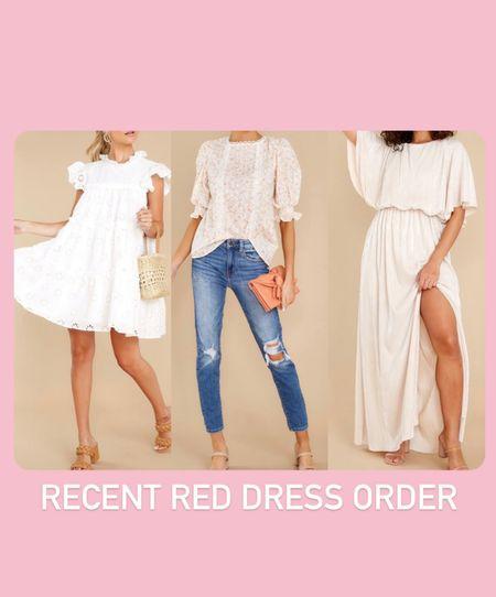 Red dress order. White dress. Wedding guest dress maxi dress. Floral top. Bridal shower.   #LTKwedding #LTKbump #LTKunder50