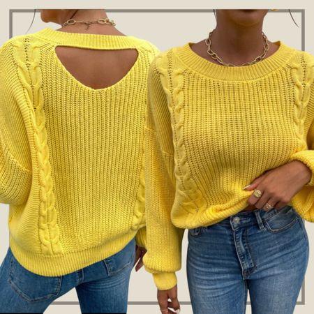 Cable knit drop shoulder sweater   #LTKunder50 #LTKstyletip #LTKunder100