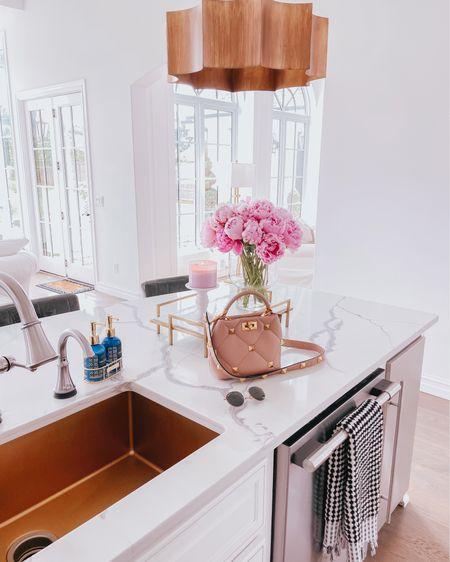 http://liketk.it/3hdWP #liketkit @liketoknow.it #LTKhome Valentino, ray ban, flowers, tray, kitchen, home decor, hand towel, candle, Emily Ann Gemma, kitchen decor,