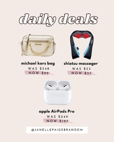 These deals are so good for holiday shopping! sale alert on Apple AirPods Pro, Michael kors bag & shiatsu neck massager!   #LTKCyberweek #LTKsalealert #LTKHoliday