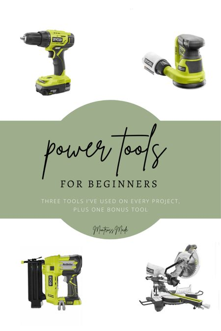 Power tools for beginners http://liketk.it/38prs #liketkit @liketoknow.it #LTKhome @liketoknow.it.home