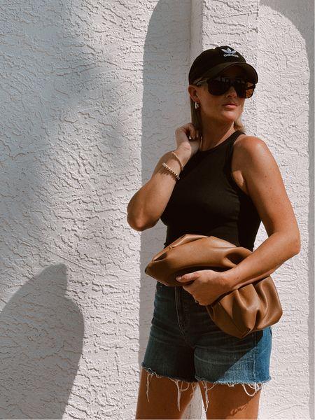 🖤🤎 #amazonfashion #adidashat #baseballhat #hoops #beadedbracelets #pouchbag #bag #cloudbag #bodysuit #sunglasses #amazonfinds #founditonamazon         #LTKunder50
