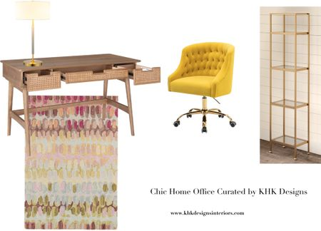 We have curated a series of chic home office mood-boards for Memorial Day sale. Up to 50% off  and the stock is limited. For this mood-board, we want to have a little bit fun by using natural rattan , pastels and a strike of sunny yellow. ..  #LTKhome #LTKsalealert