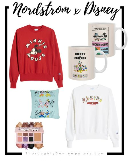 Nordstrom x Mickey and Friends is here! Yes this Disney and Nordstrom collab includes fun fashion pieces, home decor, makeup, and vintage finds! It's only in very select stores but the whole collection is online! Love this Minnie sweatshirt and I already picked up the Donald and Daisy Dose of Colors eyeshadow palette!  #LTKfamily #LTKbeauty #LTKunder100
