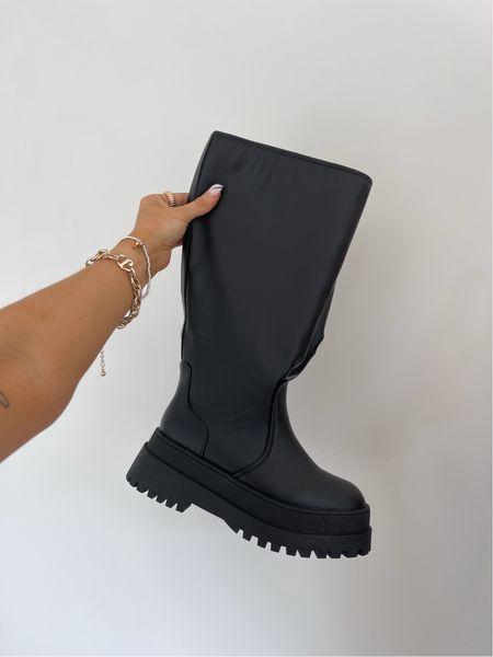 Black knee high boots - fall shoe trends 2021 - autumn shoe trends 2021   #LTKshoecrush #LTKunder50 #LTKeurope