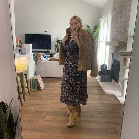 Boho fall look. Wearing large in dress.     #LTKSeasonal