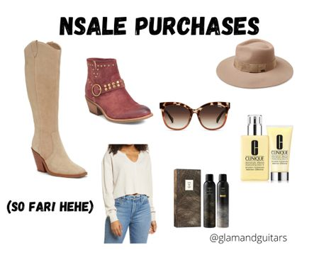 Nordstrom sale purchases so far! Focused mostly on shoes, accessories and beauty. Most excited for the boots and hat! http://liketk.it/3jXsb #liketkit @liketoknow.it #LTKsalealert #LTKshoecrush #LTKstyletip