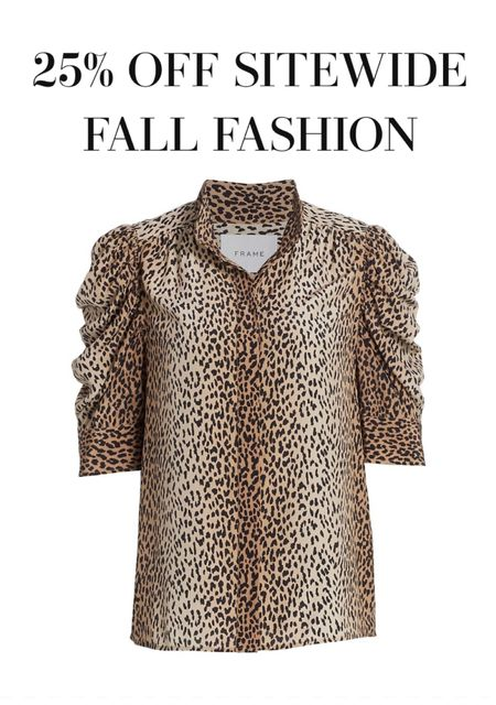 Favorite label Frame is holding a Friends and Family sale 25% sitewide. Loving all the leather pants and leopard top  #LTKstyletip #LTKsalealert