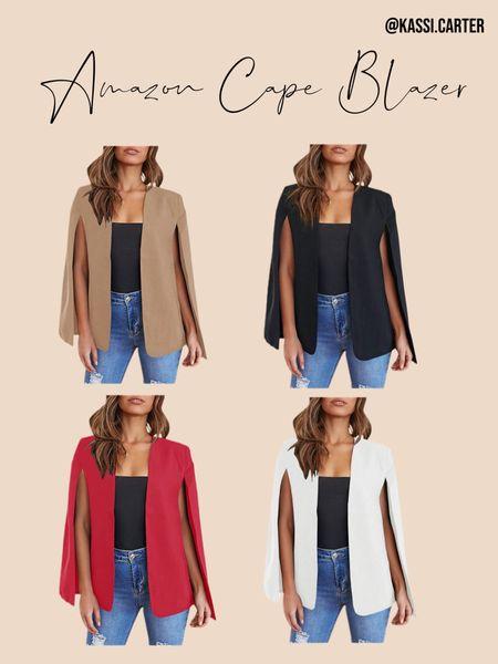 Amazon cape blazer http://liketk.it/3k6sQ #liketkit @liketoknow.it #LTKsalealert #LTKunder50 #LTKtravel