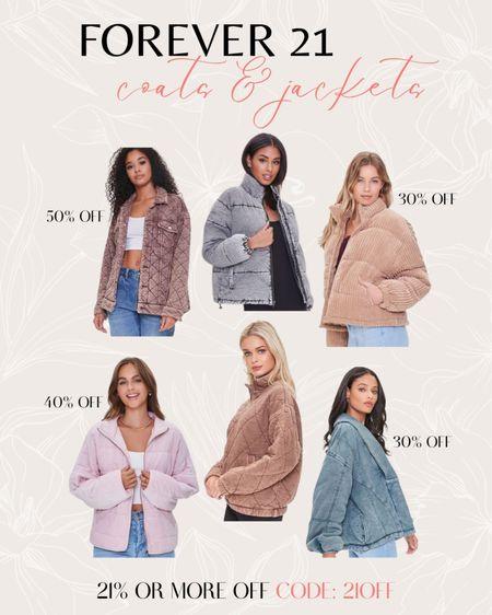 Forever 21 Sale - coats & jackets  #LTKstyletip #LTKsalealert