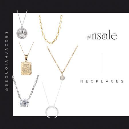 #nsale necklaces Nordstrom anniversary sale, Nordstrom accessories, initial necklace, Nordstrom sale finds.  #LTKsalealert #LTKstyletip