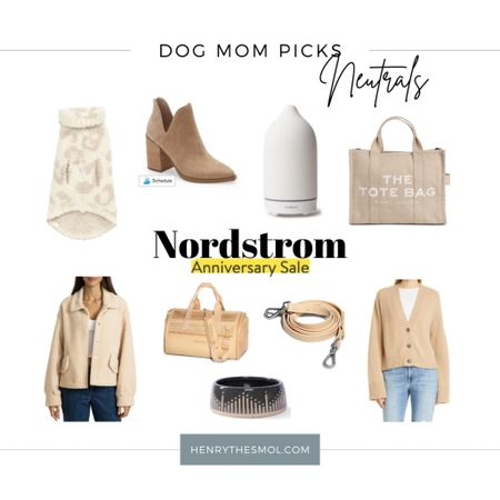 #nsale Nordstrom Anniversary Sale! Dog Mom neutral finds. Neutral outfits, home decor, neutral pet carrier and pet accessories.   #LTKfamily #LTKstyletip #LTKhome