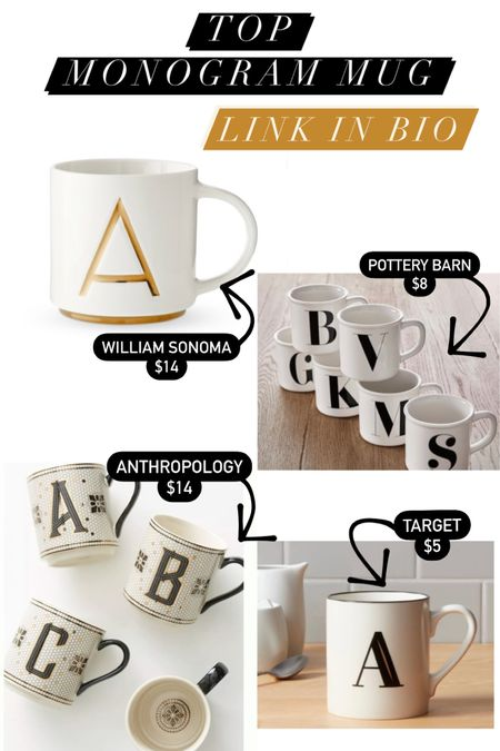 Monogram mug Coffee mug Home decor Kitchen  http://liketk.it/39WyR #liketkit @liketoknow.it