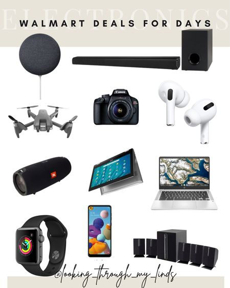 Walmart deals for days   Walmart sale   Walmart favorites   tech sale   TV on sale   sound bar   Apple Watch   air pods   #LTKsalealert #LTKunder50 #LTKhome