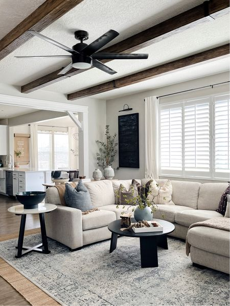 Adding these wood beams to my living room ceiling has given this space such a cozy vibe!   #LTKunder100 #LTKhome #LTKunder50