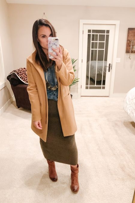 I revived my carmel funnel-neck coat this morning with a fabric shaver! I'm so glad she looks as good as new now, this jacket is perfect for fall dress up! I feel so professional in it!   http://liketk.it/2Zk34 #liketkit @liketoknow.it