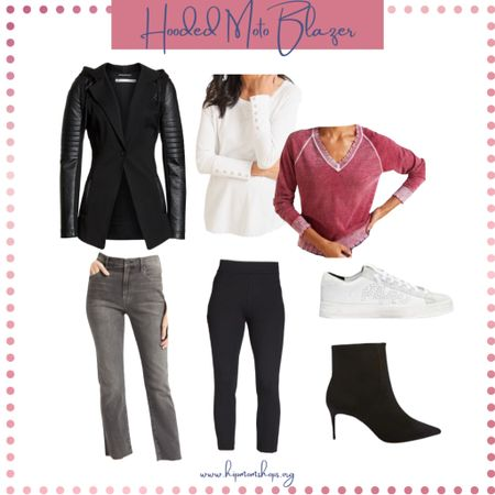 Nordstrom Hooded Moto Blazer  Fall Style  Fall Transitional Jacket  Fall Outfit Ideas  #LTKstyletip #LTKSeasonal #LTKfit