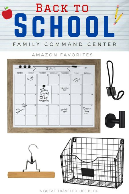 Back to School family Command Center! Make your back to school so much easier with a little home organization and fun home decor!   #LTKunder100 #LTKkids #LTKbacktoschool