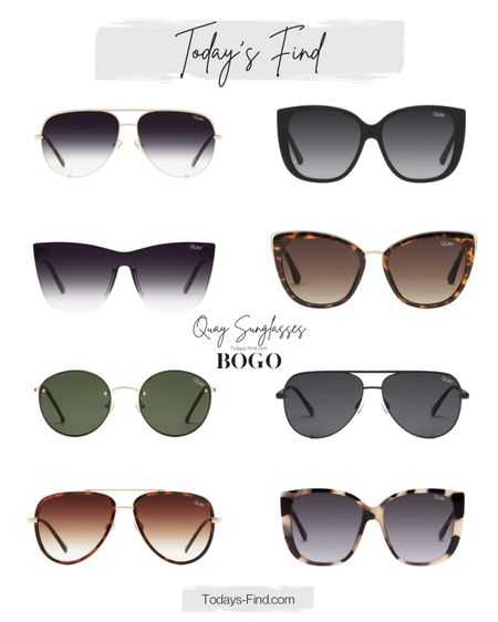 My favorite Quay sunglasses are on sale BOGO.  Sale ends today.    #LTKsalealert #LTKtravel #LTKSeasonal