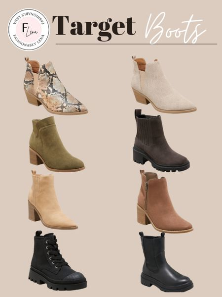 Target boots, fall boots   #LTKsalealert #LTKshoecrush #LTKSeasonal