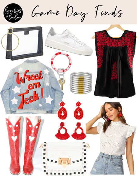 Game Day Faves❣️🤠 So excited to be going to our first Texas Tech football game this weekend! Here are a few things I love… And they're available in  other school colors of course!!   #LTKSeasonal #LTKstyletip #LTKitbag