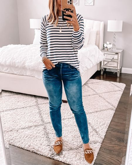 Great basic striped thermal for fall! Wearing size small  Follow my shop on the @shop.LTK app to shop this post and get my exclusive app-only content!  #LTKunder50 #LTKunder100 #LTKsalealert