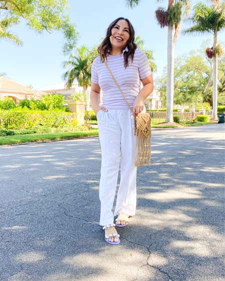 Linen pants for the win!!  When you live in hot climates you learn a lot about linen!!  Do you have a favorite linen piece? . .  Shop your screenshot of this pic with the LIKEtoKNOW.it shopping app http://liketk.it/3cR6f #liketkit @liketoknow.it #LTKunder100 #LTKunder50 #LTKstyletip