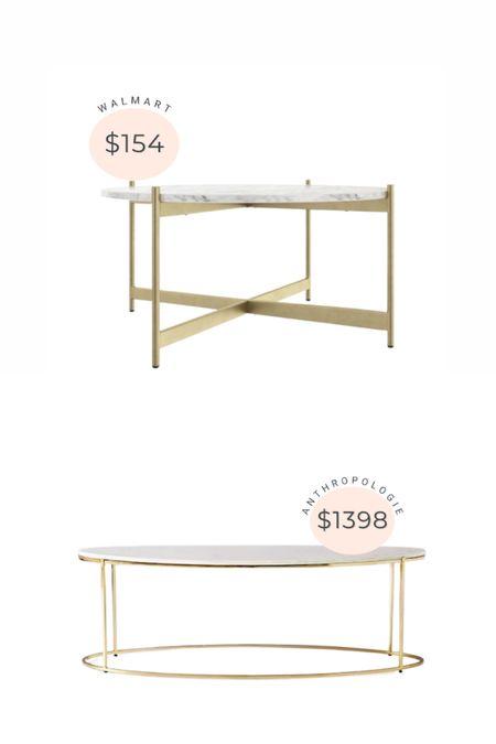 Anthropologie coffee table dupe from Walmart.   #LTKhome #LTKsalealert #LTKstyletip
