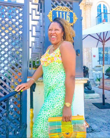 Colorful Summer dress and bamboo handbag #targetstyle #amazonfashion #LTKDay #LTKstyletip #LTKitbag http://liketk.it/3hmmy @liketoknow.it #liketkit
