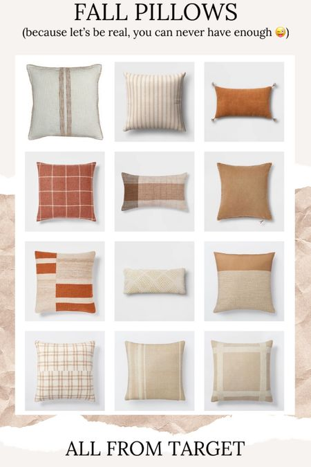 Fall throw pillows // fall home // fall decor // target finds //   #LTKunder50 #LTKSeasonal #LTKhome
