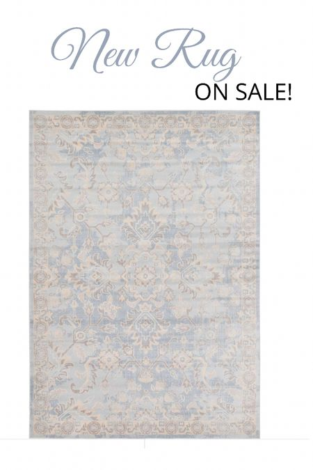 Beautiful soft blue rug on sale! 50% off!   #LTKsalealert #LTKhome