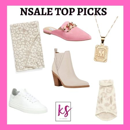 Nordstrom sale top picks Barefoot dreams blanket Pink mules  White booties - I wore year round  Dog sweater  Gold initial necklace I wear quite often White sneakers   http://liketk.it/3jKuS #liketkit @liketoknow.it #LTKsalealert #LTKunder50 #LTKunder100