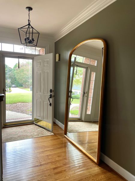 🚨🚨🚨 MIRROR BACK IN STOCK AND 36% off. It sales out super fast.  This leaner mirror is a must have.  Floor mirror, full length mirror, gold frame Wayfair find   #LTKsalealert #LTKhome
