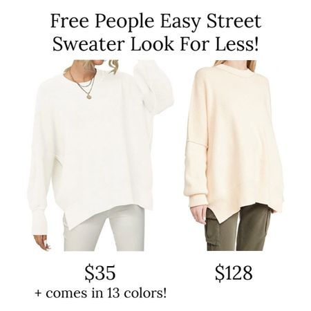 I love free people sweaters, but they can get pricey! This Amazon look for less is a great option for the free people easy street sweater, and it's only $35 right now and comes in 13 colors!  . Amazon finds mock neck sweater oversized sweater sweater dress  #LTKunder50