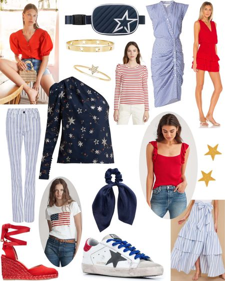 Fourth of July outfit inspiration. 🇺🇸🇺🇸🇺🇸 http://liketk.it/2QWT9 #liketkit @liketoknow.it Shop your screenshot of this pic with the LIKEtoKNOW.it app  • • • • •  #StayHomeWithLTK #LTKspring #4thofjuly #outfitinspiration #outfitinspo #outfitideas #patriotic #redwhiteandblue #shopping #onlineshopping #starsandstripes #dresses #tops #sneakers #sandals #summerstyle #holidaymood #ltkstyletip #style #fashion #whattowear