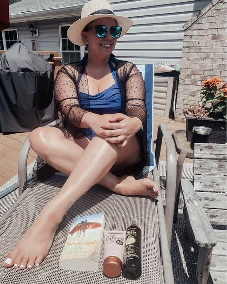 Only summer vibes around here! I'm loving this bathing suit from Amazon. It's so flattering and comfortable. It's the perfect suit for the beach and pool! 🌴 (everything is linked in my LTK)  🌴 cover up- SHEIN 🌴 hat- Amazon (2 pack) 🌴 sunglasses- Wear Me Pro  http://liketk.it/3hBx1 #liketkit #LTKcurves #LTKstyletip #LTKunder50 @liketoknow.it