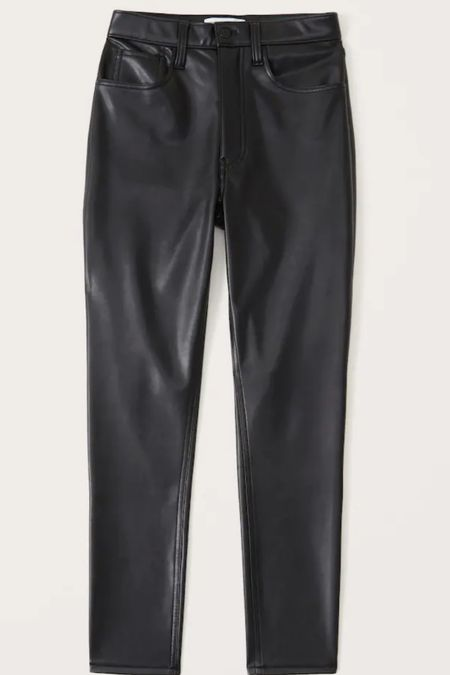 Abercrombie vegan leather pants are restocked in limited sizes! TTS have in 28!    #LTKSale #LTKstyletip #LTKunder100