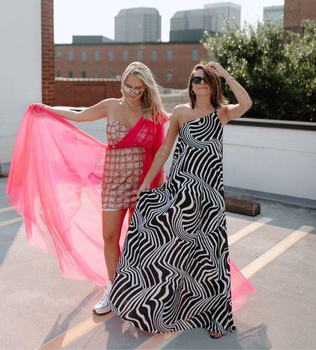 Extra dresses. ASOS design dresses. Zebra dress. Sequin dress. Converse platform sneakers. ASOS fashion. Rooftop photo shoot.   #LTKstyletip #LTKunder100 #LTKSeasonal