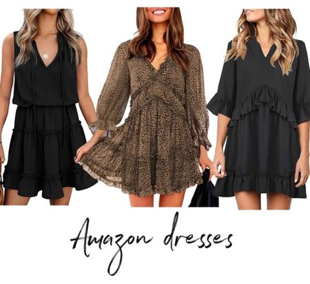 Amazon dress, Amazon fashion, Amazon finds, black dress   #LTKunder50 #LTKstyletip