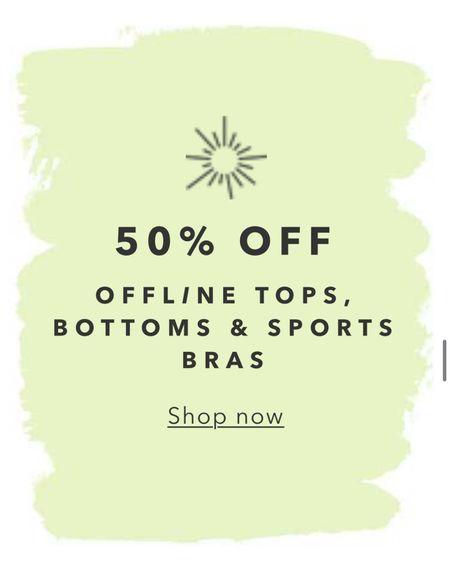Aerie's Offline line has some pieces on MAJOR sale!! Their offline leggings are AMAZING 😍 http://liketk.it/3hhnn #liketkit @liketoknow.it #LTKunder50 #LTKstyletip #LTKsalealert
