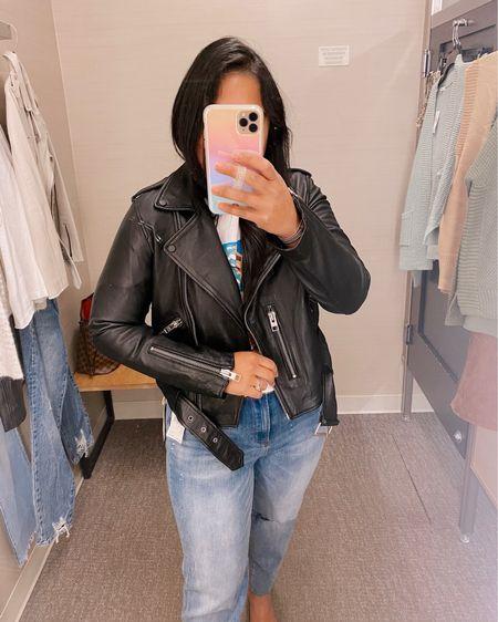 Nordstrom Anniversary Sale #nsale  Best leather jacket! Size up!!   #LTKSeasonal #LTKsalealert #LTKstyletip