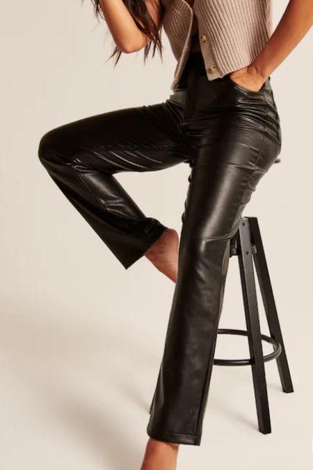Vegan leather pants__ Abercrombie fall styles     #LTKstyletip #LTKunder100 #LTKunder50